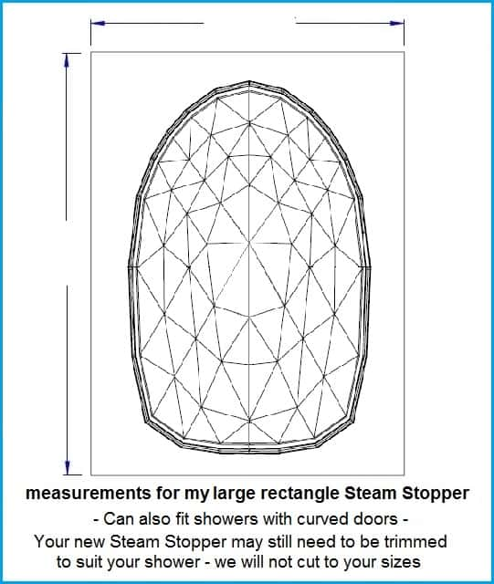 SteamStopper lge rectangle size