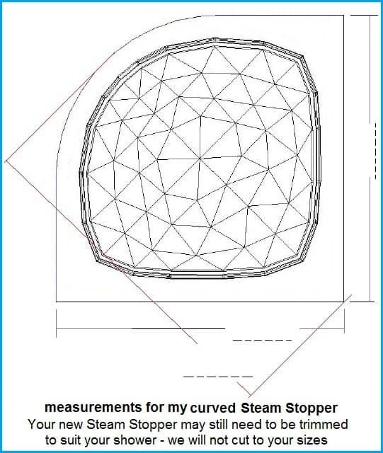 Steam Stopper curved size