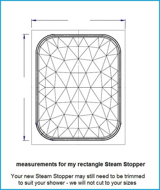 Steam Stopper rectangle size