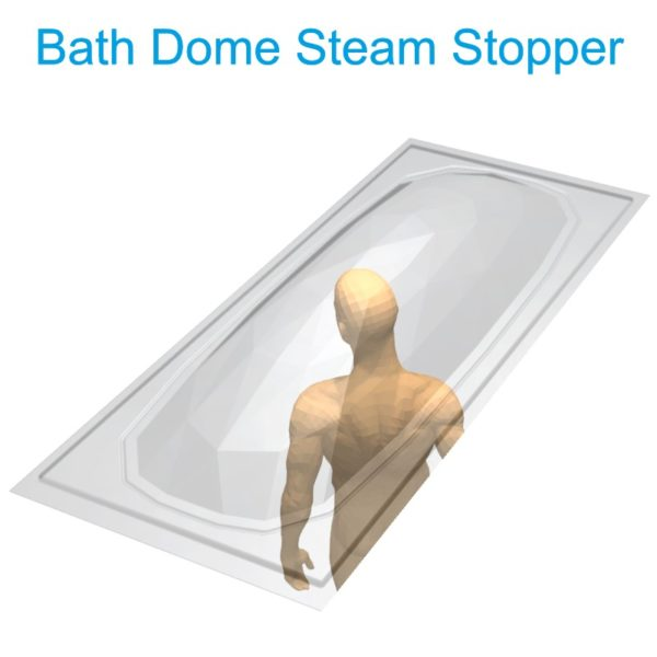 Bath Dome Steam Stopper with person Henry Brooks