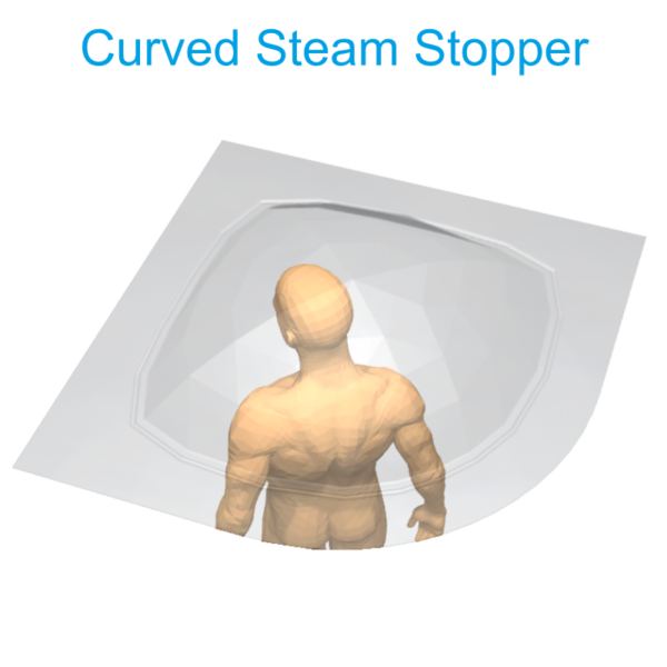 curved Steam Stopper Henry Brooks