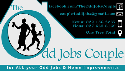 The odd jobs couple One Tree Point