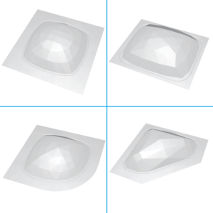 curved or square or rectangle or 45deg Steam Stoppers